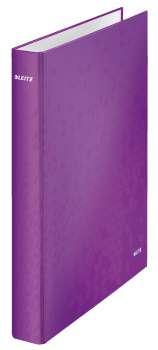Dvoukroužkový pořadač LEITZ WOW - A4, laminovaný karton, hřbet 4,0 cm, purpurová
