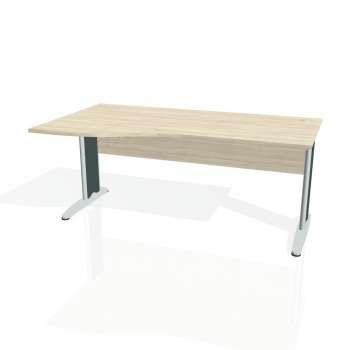 Psací stůl Hobis CROSS CE 1000 pravý, akát/kov