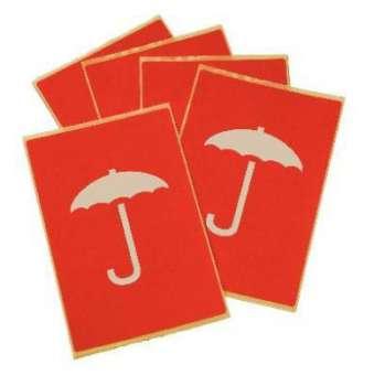 """Nálepky na balíky - """"deštník"""", 5 ks"""