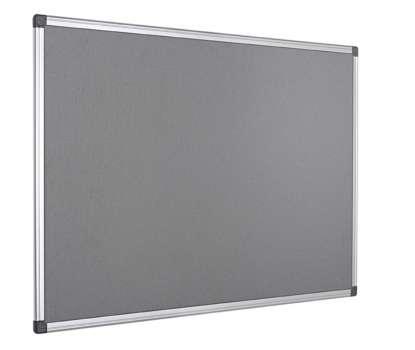 Filcová nástěnka Office Depot - 120 x 90 cm, šedá, hliníkový rám