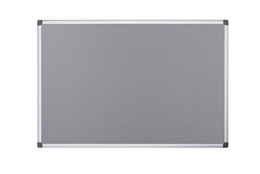 Filcová nástěnka Office Depot - 90 x 60 cm, šedá, hliníkový rám