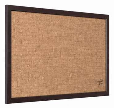 Nástěnka korková NeoDeco - 60 x 45 cm, tmavě hnědý rám