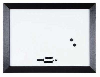 Magnetická tabule Kamashi, bílá, černý rám