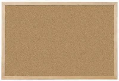 Korková nástěnka Niceday - 60 x 45 cm, hnědá, dřevěný rám