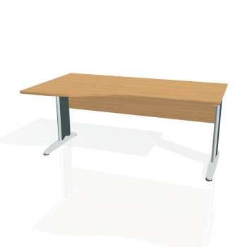 Psací stůl Hobis CROSS CE 1000 pravý, buk/kov