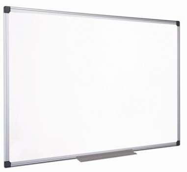 Bílá lakovaná tabule Niceday - 90 x 60 cm, hliníkový rám