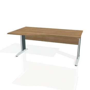 Psací stůl Hobis CROSS CE 1000 pravý, višeň/kov