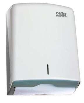 Zásobník na papírové ručníky Office Depot - na ručníky Z i C, bílý, plast