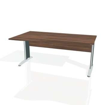 Psací stůl Hobis CROSS CE 1000 pravý, ořech/kov