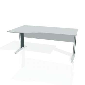 Psací stůl Hobis CROSS CE 1000 pravý, šedá/kov
