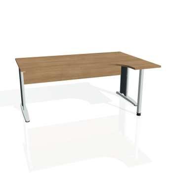 Psací stůl Hobis CROSS CE 1800 levý, višeň/kov