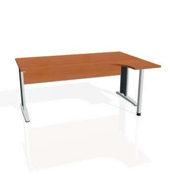 Psací stůl Hobis CROSS CE 1800 levý, třešeň/kov