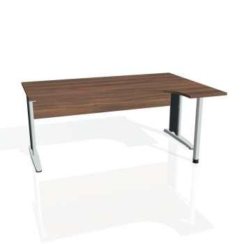 Psací stůl Hobis CROSS CE 1800 levý, ořech/kov