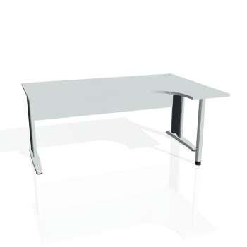 Psací stůl Hobis CROSS CE 1800 levý, šedá/kov