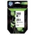 Cartridge HP SD412EE, č. 350/351 - černá, 3 barvy