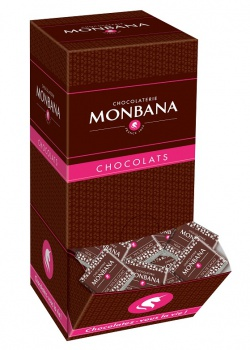 Hořká čokoláda - Monbana, 70 %, 200 x 4 g