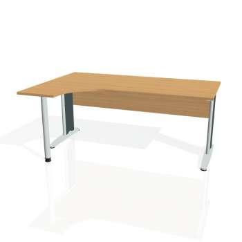 Psací stůl Hobis CROSS CE 1800 pravý, buk/kov