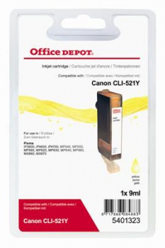 Cartridge Office Depot Canon CLI-521 Y - žlutá