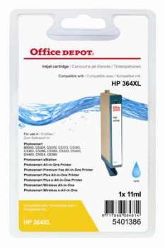 Cartridge Office Depot HP CB323EE/364 XL - azurová