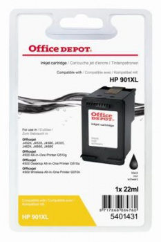 Cartridge Office Depot HP CC654AE/901 XL - černá