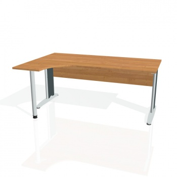Psací stůl Hobis CROSS CE 1800 pravý, olše/kov