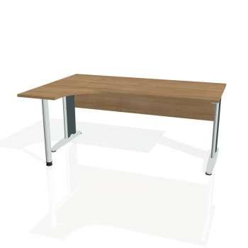Psací stůl Hobis CROSS CE 1800 pravý, višeň/kov