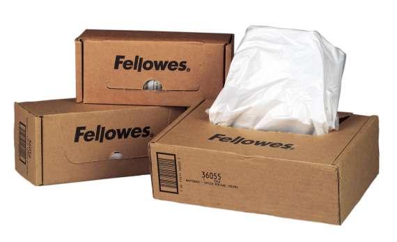 Pytle Fellowes pro skartovací stroje - 34 l, 100 ks