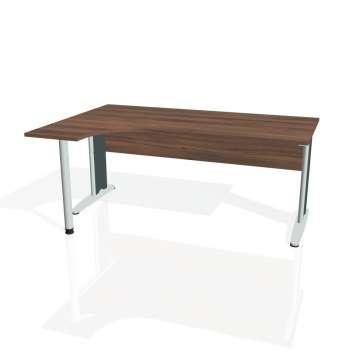 Psací stůl Hobis CROSS CE 1800 pravý, ořech/kov