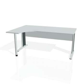Psací stůl Hobis CROSS CE 1800 pravý, šedá/kov