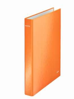 Čtyřkroužkový pořadač Leitz WOW 25 mm, oranžový