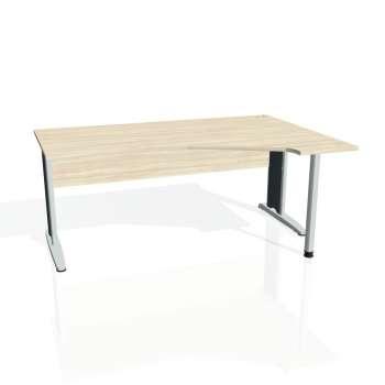 Psací stůl Hobis CROSS CEV 1800 levý, akát/kov