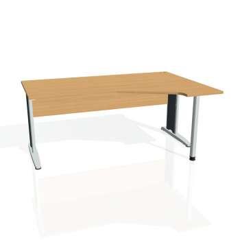Psací stůl Hobis CROSS CEV 1800 levý, buk/kov