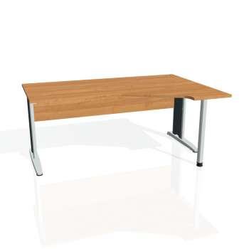 Psací stůl Hobis CROSS CEV 1800 levý, olše/kov