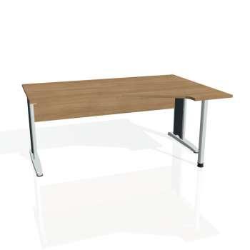 Psací stůl Hobis CROSS CEV 1800 levý, višeň/kov
