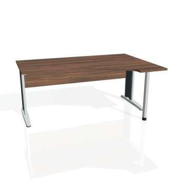 Psací stůl Hobis CROSS CEV 1800 levý, ořech/kov