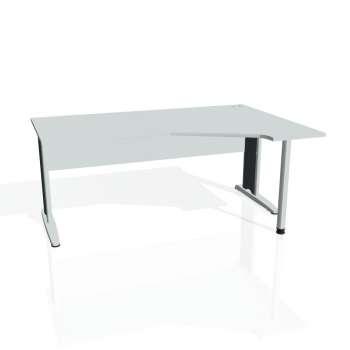 Psací stůl Hobis CROSS CEV 1800 levý, šedá/kov