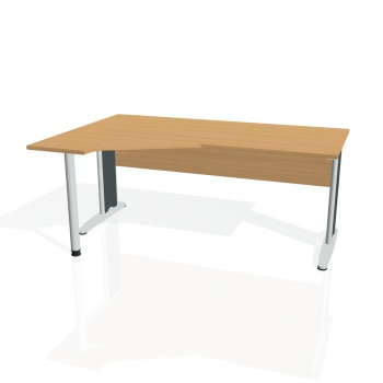 Psací stůl Hobis CROSS CEV 1800 pravý, buk/kov