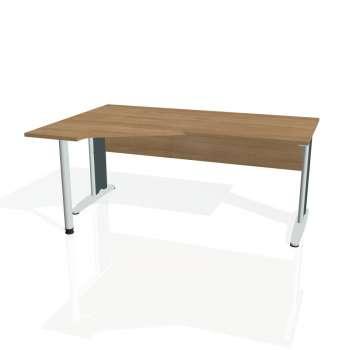 Psací stůl Hobis CROSS CEV 1800 pravý, višeň/kov