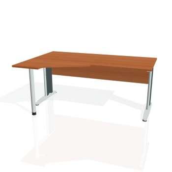 Psací stůl Hobis CROSS CEV 1800 pravý, třešeň/kov