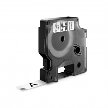 Páska Dymo D1 šířka 12 mm/návin 7m, černá / bílá