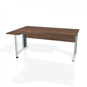 Psací stůl Hobis CROSS CEV 1800 pravý, ořech/kov