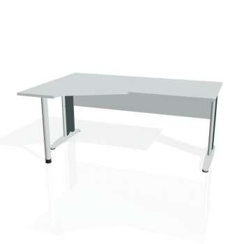 Psací stůl Hobis CROSS CEV 1800 pravý, šedá/kov
