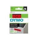 Páska Dymo D1 - červená, šířka 12 mm, návin 7 m, černé písmo