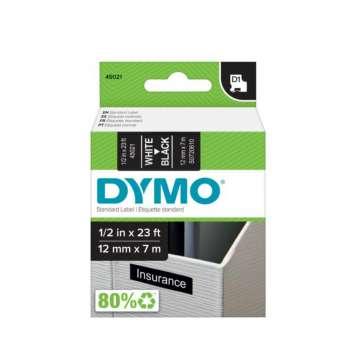 Páska Dymo D1 - černá, šířka 12 mm, návin 7 m, bílé písmo