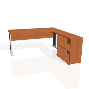 Psací stůl Hobis CROSS CE 1800 H levý, třešeň/kov