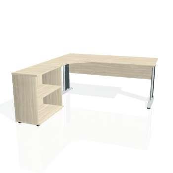 Psací stůl Hobis CROSS CE 1800 H pravý, akát/kov