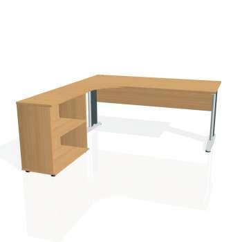 Psací stůl Hobis CROSS CE 1800 H pravý, buk/kov