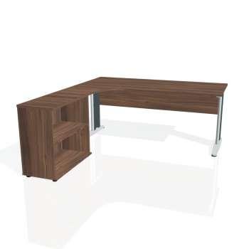 Psací stůl Hobis CROSS CE 1800 H pravý, ořech/kov