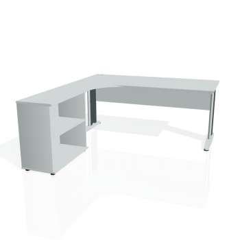 Psací stůl Hobis CROSS CE 1800 H pravý, šedá/kov