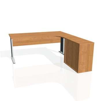 Psací stůl Hobis CROSS CE 1800 HR levý, olše/kov